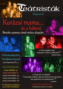 2009-10-31_Brecht_Kurazsi_mama_PLAKAT